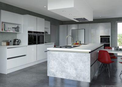 Furore White & Textura Concrete
