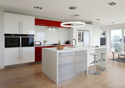 Rialto Red & White & Silver